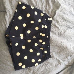 NWT Navy and white polka dot shorts